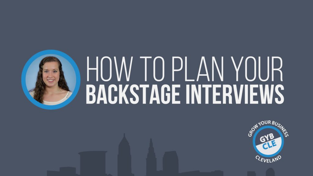 GYB CLE Planning Backstage Interviews